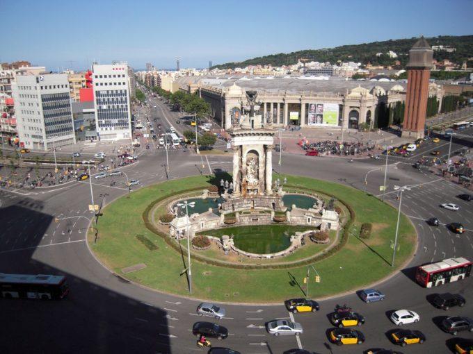 バルセロナのプラセスパニャ広場