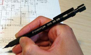 ステッドラーの製図用シャーペン