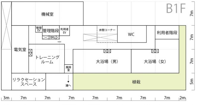 製図試験、リゾートホテルのランク3図面