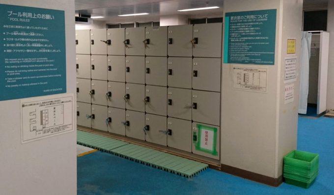 プールのロッカー室