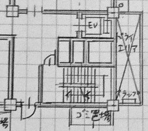 図面の階段・エレベーター表現