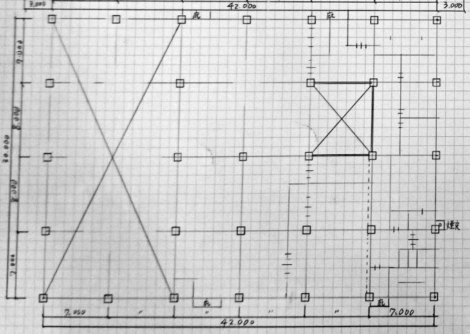 図面の下書き仮線