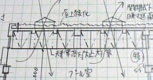 特定天井の断面図