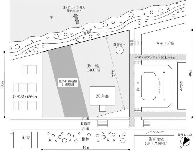 一級建築士製図試験の予想問題、敷地図