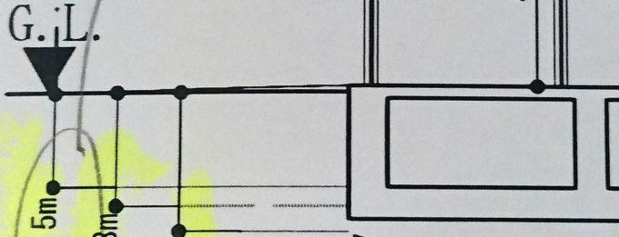 スポーツ施設標準解答例の断面図寸法