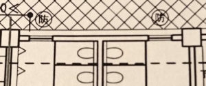 スポーツ施設標準解答例のトイレの窓