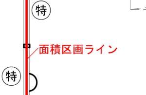 面積区画ライン