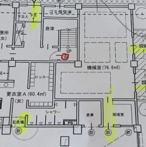 スポーツ施設標準解答例の機械室