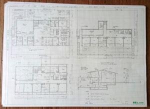 一級建築士製図試験の図面